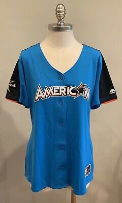 a19366beaa1 MAJESTIC MLB 2017 All Star Game American League Blue Jersey Womens sz XL
