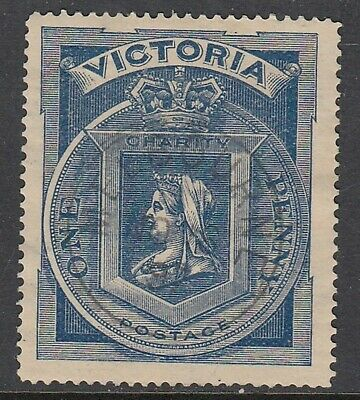VICTORIA 1900 1d (1/-) Hospital Charity Fund, Fine Used
