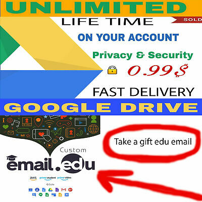 UNLIMITED GOOGLE DRIVE BUY 1 WIN 2 FREE EDU  100% Secure UNLIMITED TIME NOT EDU