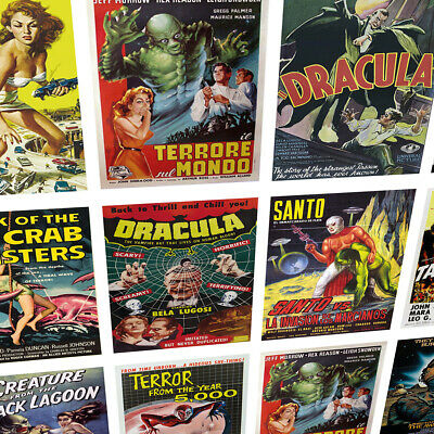 B-Movie Retro Horror Posters - cool retro prints - classic movie posters
