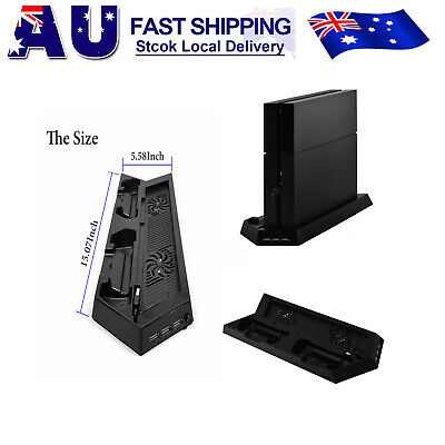 AU Vertical Cooling Fan Stand with Dual Controller Charger For PS4