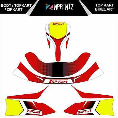 Topkart/Zipkart Birel Art Style Sticker Kit - Karting - Otk - Evk-Cadet-Rookie