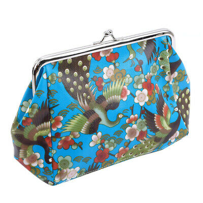 Fashion Women Lady Peacock Flower Printed Wallet Clutch Purse Totes CB