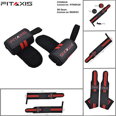 FITAXIS Weightlifting Bicep triceps Gym Training Fist Straps Padded Wrist Wraps