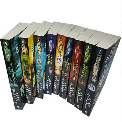 Time Riders Alex Scarrow 9 Books Collection Set City of Shadows Gates of Rome
