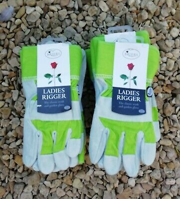 Briers Ladies Suede Rigger Garden Gloves Small/medium .job Lot X 10 Pairs