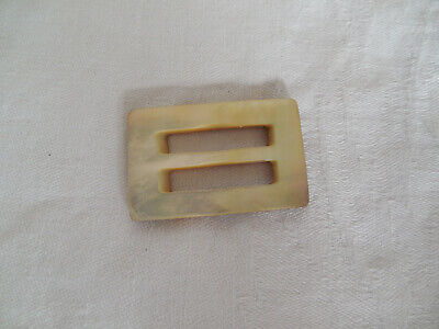 Vintage mother of pearl small belt buckle