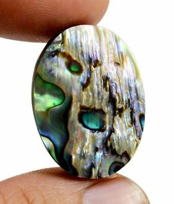 29ct Natural Australian Doublet Abalone Shell Cabochon Oval Shape Loose Gemstone