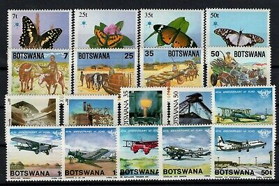 P106524/ Botswana / Y&t # 489 / 506 Neufs ** / Mnh Complete