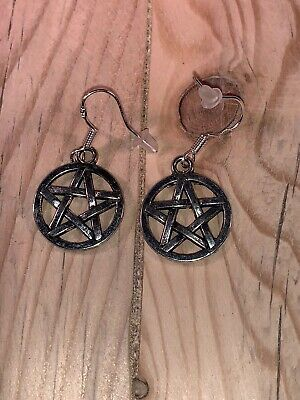 Cute Pentacle Witch Pagan Wiccan Earrings Kitsch Retro Fun Cool By Merrily Mad