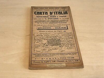 Vintage Carta D'Italia Motorist Cyclist Tourist Map of Milan - Edward Stanford