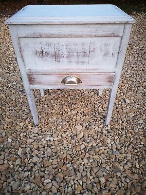 Shabby Chic Solid Oak Vintage /Retro Sewing Box (Pavilion Gray) Farrow & Ball