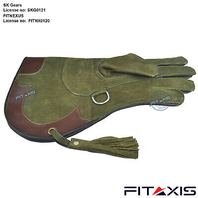 Falconry Eagle Nubuck Leather Hunting shooting bird pets hawk Gym Gloves Branded