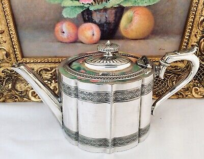 Superb Antique Victorian Silver Plated Tea Pot JAMES DIXON & SONS C1890