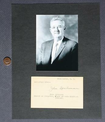1946-79 Alabama Senator John Sparkman signed autograph-photo-1952 VP Candidate!*
