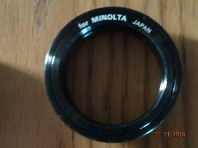 MINOLTA MD fit T mount adapter for slide copier or telescope