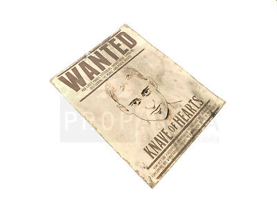 ONCE UPON A TIME IN WONDERLAND Knave Wanted Poster Prop (OIWL0280)