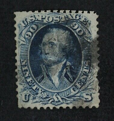 CKStamps: US Stamps Collection Scott#72 30c Franklin Used Pinhole, Reperf Thin
