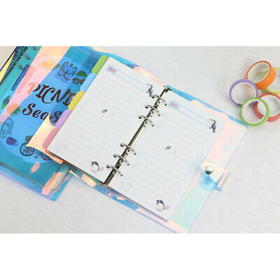 A5 A6 A7 Laser Loose Binder Notebook Diary Loose Leaf Note Book Planner Clip L