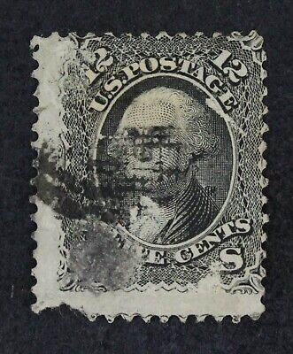CKStamps: US Stamps Collection Scott#90 12c Washington Used Thin Tear Off, Fault