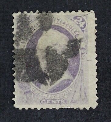 CKStamps: US Stamps Collection Scott#153 24c Used Lightly Crease Signed CV$230