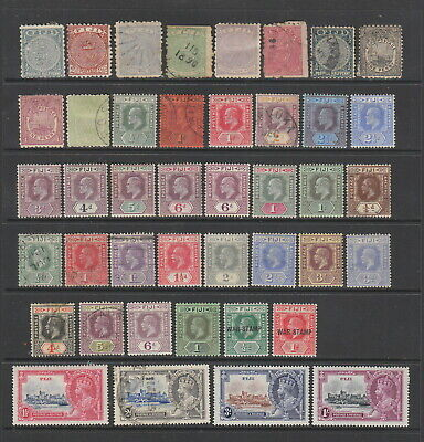 Fiji early - 1935 collection, 42 stamps MH or used