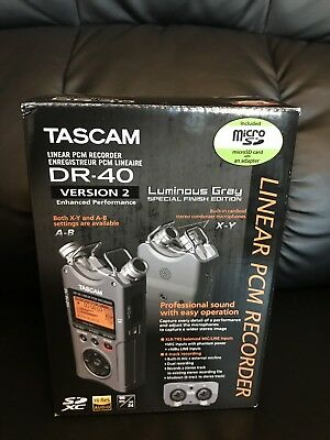 TASCAM DR-40 4-Track Linear PCM Handheld Portable Audio Recorder (Version 2)