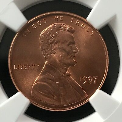 1997 1C RD Lincoln Memorial One Cent NGC MS68RD                   4474344-004