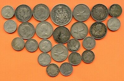 Canada ~ $4.40 Face ~ 80% Silver Coins ~ Circulated ~ 1966 & Earlier Dates