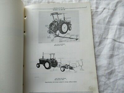 ORIGINAL JOHN DEERE No 8 & No 9 CHAINSAW PARTS CATALOG MANUAL