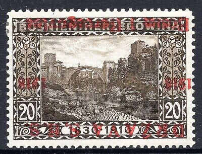 BOSNIA SHS - LANDSCAPES - 20 Hel. WITH INVERTED OVERPRINT - MINT HINGED - GOOD Q