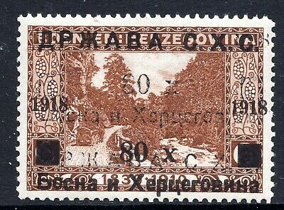 BOSNIA SHS - LANDSCAPES - 80 Hel. WITH DOUBLE OVERPRINT - MNH - GOOD QUALITY
