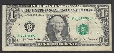 Usa –  One Dollar Bill, Series 1977A, Miscut, Shifted To Top