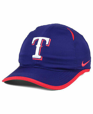0671a83cc98d6 Texas Rangers MLB Nike Featherlight Dri-Fit Royal Blue Baseball Cap Hat  Unisex T