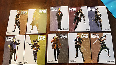 2017 Sdcc Comic Con Exclusive The Walking Dead March To War Promo Card Set Of 10