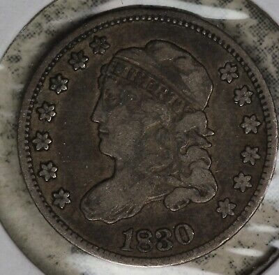 Nice 1830 Capped Bust half Dime - Strong Fine Condition Coin