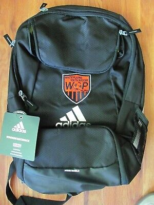 adidas Climaproof Stadium Team Gear Up Soccer Backpack Black White Plains  Youth d0e9c72f5c4fe