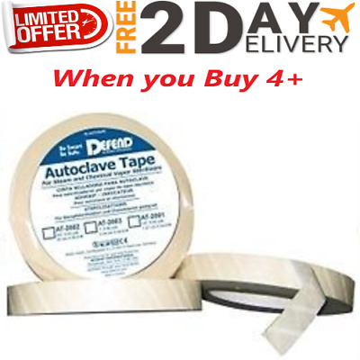 """Defend+ Autoclave Indicator Tape 1/2"""" 60 Yard Roll"""