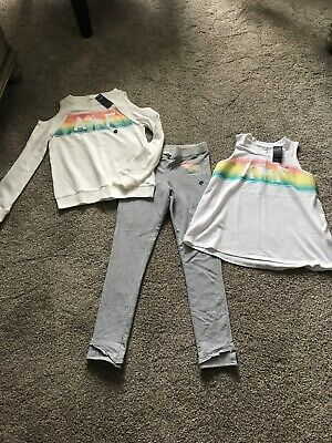3 Pc Girl's Clothes Lot Abercrombie Sweat Pants Top Shirt - XL 13 14 New Tags
