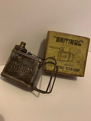 Britinol Pocket Spirit Blow-Lamp - Excellent Condition Includes Original Box!!
