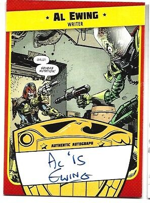 Mars Attacks Occupation Judge Dredd Autographed Card Writer  Creator Al Ewing