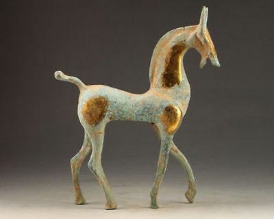 Collectables! China Old Dynasty Beautiful Handcrafted old Bronze Horse Statue