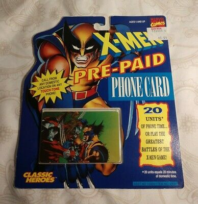 1994 Marvel X-men Prepaid Phone Card (Expired)
