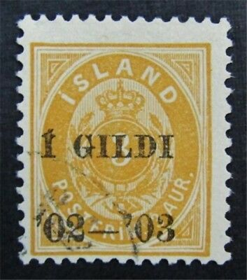 nystamps Iceland Stamp # 49 Used $675