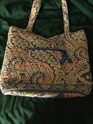 927f878e2a6a Vera Bradley Bucket Tote Capri Blue Pattern Retired Magnet Snap Purse Bag