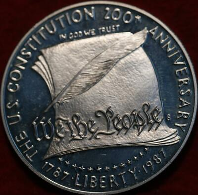 Uncirculated Proof 1987-S San Francisco Mint Silver US Constitution $1