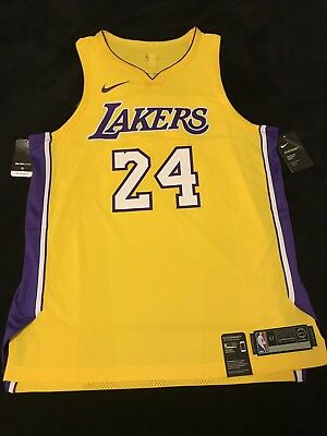 8ad3e6852 NEW Nike Kobe Bryant 24 Los Angeles Lakers Authentic Jersey-Gold Size XL-52