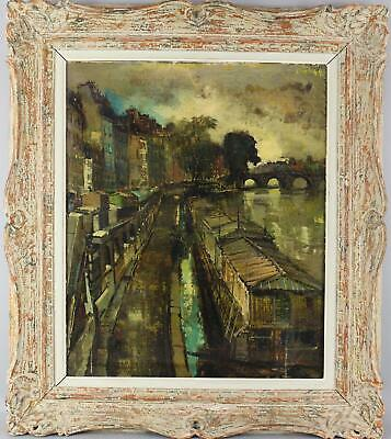 Authent OLIVER FOSS French Abstract Expressionist Seine River Paris Oil Painting