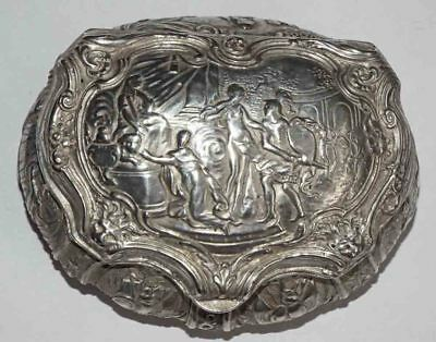 Early Victorian Sterling Silver Pictorial English Vanity Box