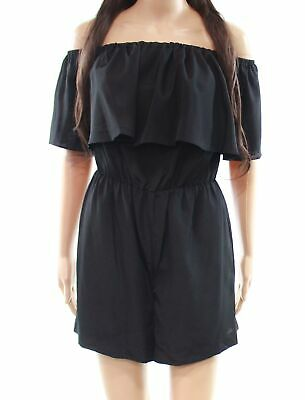4a131133032 A New York NEW Black Women s Size Small S Ruffle Off-Shoulder Romper  92